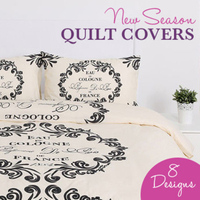 Patterned & Graphic Quilt Cover Sets (8 Styles)