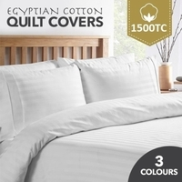 1200TC Egyptian Cotton Luxury Striped Quilt Covers