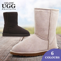 OzLamb Unisex 3/4 High Sheep Wool Ugg Boots
