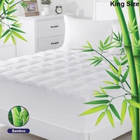 King Size Bamboo & Microfibre Mattress Topper Pad