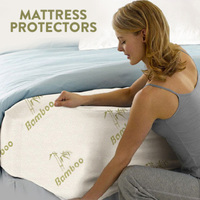 Bamboo Fitted Mattress Cover Protector in 5 Sizes