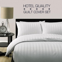 King Single Hotel Quality Quilt Cover Set in White