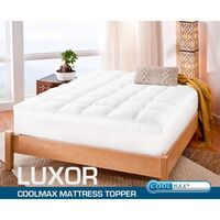 King Single Size Coolmax Fabric Mattress Topper Pad