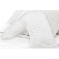 V-Shaped Fibre & Cotton Quilted Pillow Protector