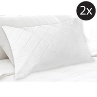 2x King Fibre and Cotton Quilted Pillow Protector