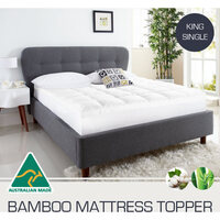 Australian Made King Single Bamboo Mattress Topper