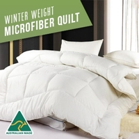 Australian Made Microfibre Winter Quilt in 6 Sizes