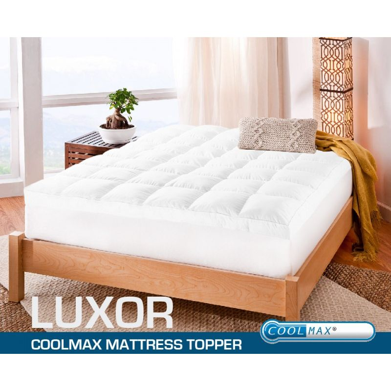 Queen Coolmax Polyester Cotton Mattress Topper Pad Buy