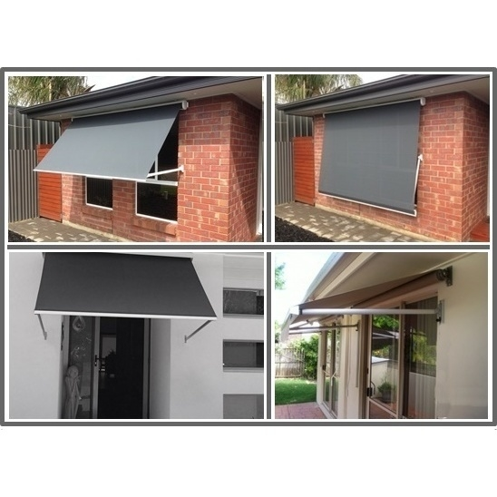 Outdoor Pivot Arm Roller Blind Awning in Grey 2.5m | Buy ...