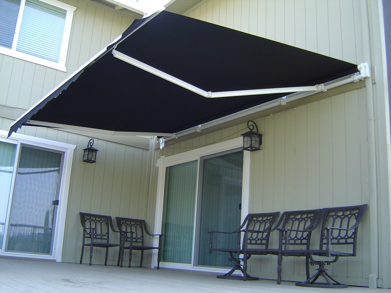 Roll Out Patio Window Door Outdoor Awning 3 Sizes