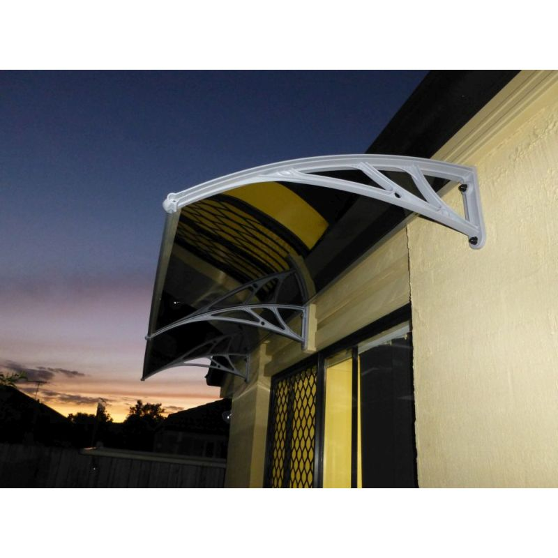 Double Awning Windows : Double window door polycarbonate awning cmx cm buy