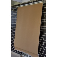 Outdoor Pivot Arm Roller Blind Awning in Beige 2m