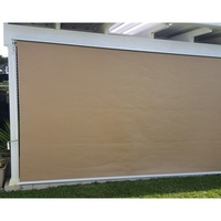 Straight Drop Outdoor Retractable Blinds - Beige 3m