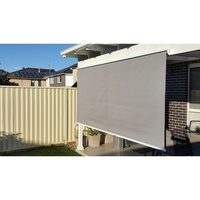 Straight Drop Outdoor Retractable Blind in Grey 3m