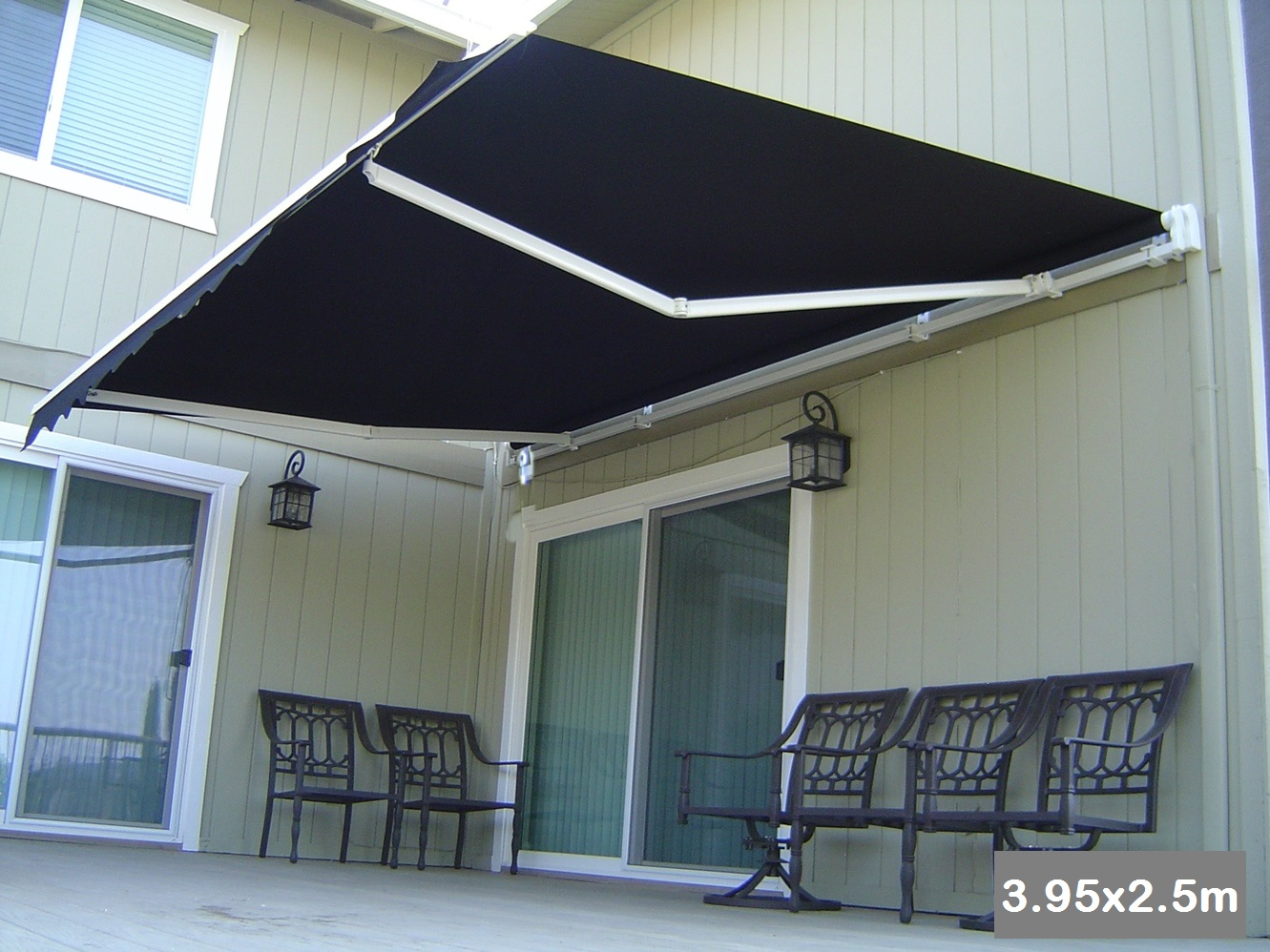 Roll Out Patio Window Door Outdoor Awning 3 95x2 5m Buy