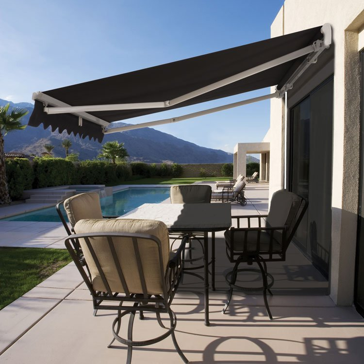 Roll Out Patio Window Door Outdoor Awning 3.95x2.5m | Buy ...