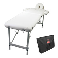 Portable Aluminium Beauty Massage Table 55cm White