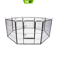 8 Panel Pet Outdoor Run Exercise Playpen 32in