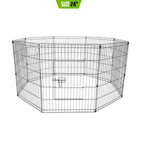Pet Puppy Metal Playpen Enclosure 8 Panel 24in