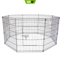 Pet Puppy Metal Playpen Enclosure 8 Panel 36in