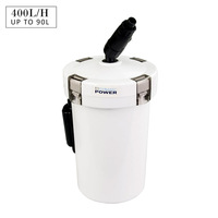 Aquarium External Canister Filter White 6W 400L/PH