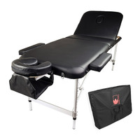 Black Beauty Massage Table Chair Bed 75cm Portable