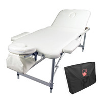 White Beauty Massage Table Chair Bed 75cm Portable