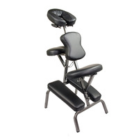 Portable Tattoo & Massage Therapy Chair w Bag Black