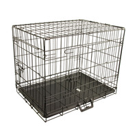 24in Metal Wire Dog Crate Medium 2 Door Collapsible