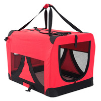 Travel Dog Cat Pet Soft Crate Carrier XXXL Red