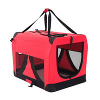 Red Dog Soft Crate Puppy Pet Carrier L Portable