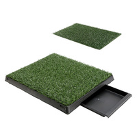 2x Puppy Toilet Training Pet Dog Grass Pad 63x50cm
