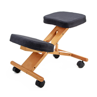 Wooden Kneeling Ergonomic Office Desk Chair Stool