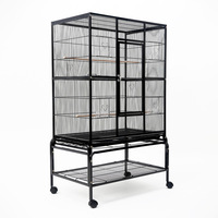 Medium Wheeled Aviary Bird Cage w/ 4 Perches 140cm