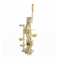 Giant Cat Scratcher 3 Pole Tree Gym in Beige 260cm