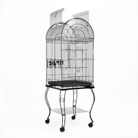 Bird Aviary Parrot Cage with 2 Budgie Perches 174cm