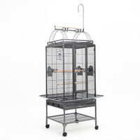 Bird Aviary Parrot Cage with 2 Budgie Perches 192cm
