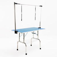 Height Adjustable Vinyl Mat Pet Grooming Table 1.2