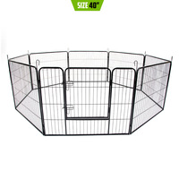Heavy Duty Pet Playpen Enclosure w 8 Panels 40x31in