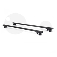 Universal Lockable Cross Bar Roof Rack Black 48in