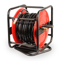 Air Hose Reel - Hand Crank 30m  360Deg Swivel