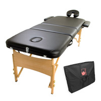 Wooden Massage Table - Handy Bed 70cm Black