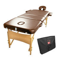 Portable Professional Massage Table in Brown/Coffee