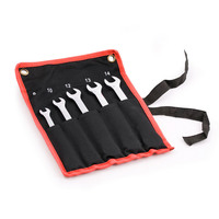 5pc Gear Ratchet Ring Spanner Wrench Set Tool