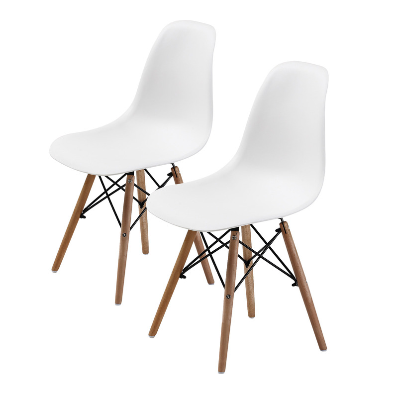 replica eames dsw dining chair white x2 buy sets of 2