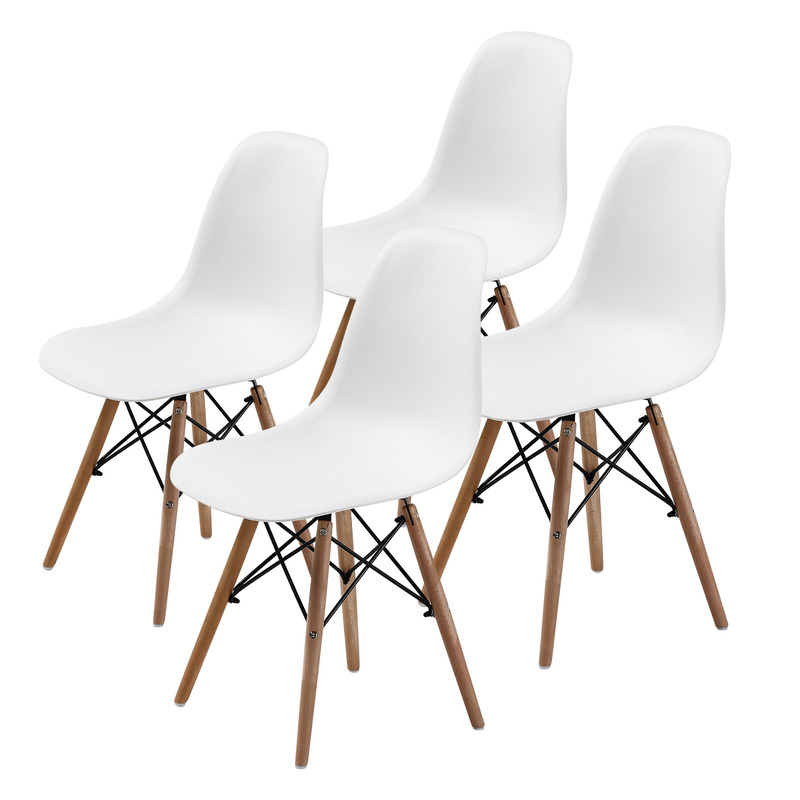 replica eames dsw dining chair white x4 buy sets of 4
