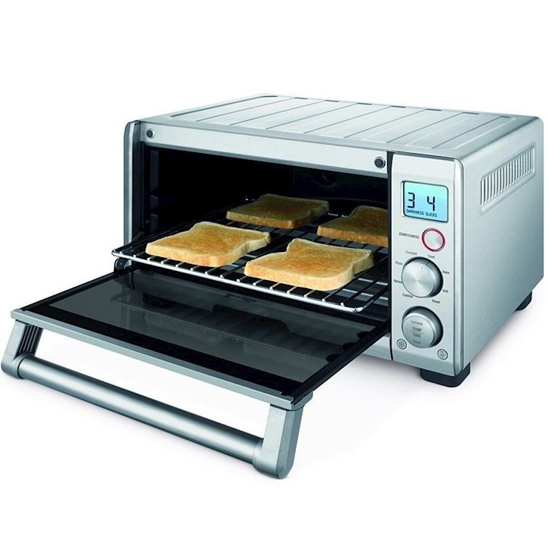Breville The Compact Smart Oven Toast Bake Roast Broil LED Display Bov650bss