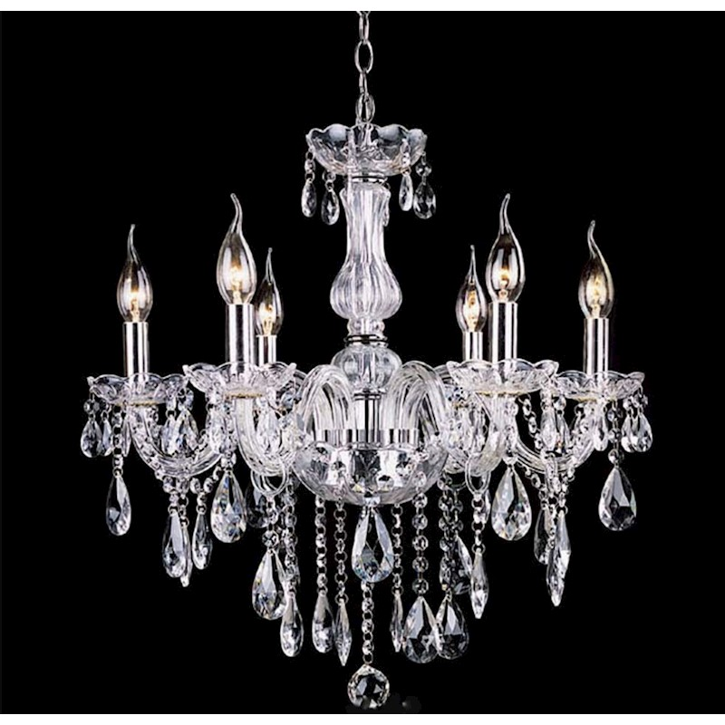 Clear french provincial glass chandelier 6pcs philips dimmable e14 clear french provincial glass chandelier 6pcs philips dimmable e14 light bulb h m s remaining clear french provincial glass chandelier aloadofball Gallery
