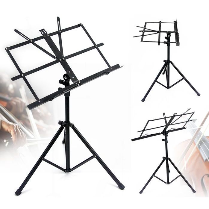 Professional Portable Music Sheet Stand Black Buy Stands : 71039126712 from www.mydeal.com.au size 698 x 698 jpeg 66kB