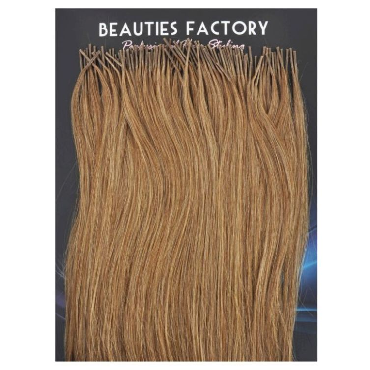Brownbutterscotch Glue Hair Extensions 20in 100s Buy Glue In Hair
